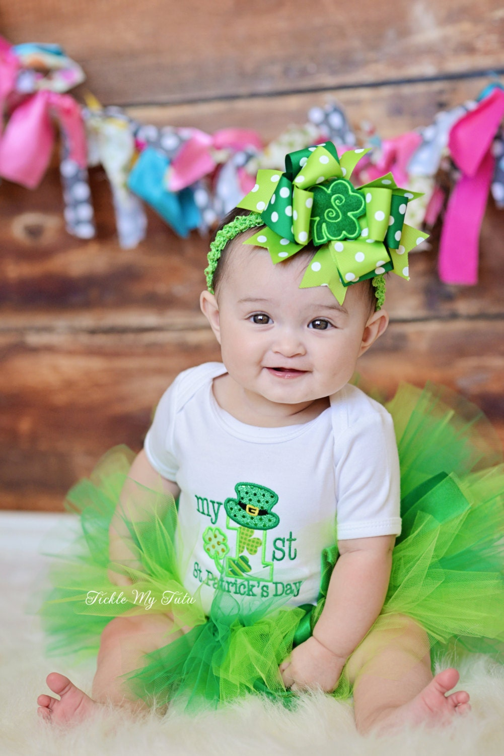 My First St Patricks Day Tutu Outfit My First St