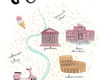 Rome A4 Art Print