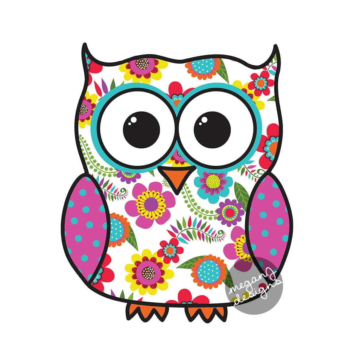 Colorful floral owl car decal sticker cute owl bumper sticker for Interieur stickers