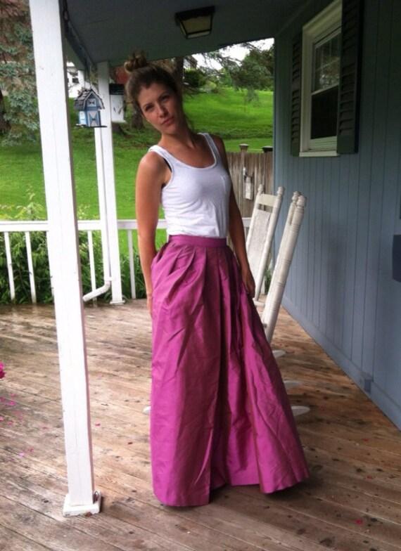 Vintage Jim Thompson Tai Silk Ball Gown Skirt // Formal Full