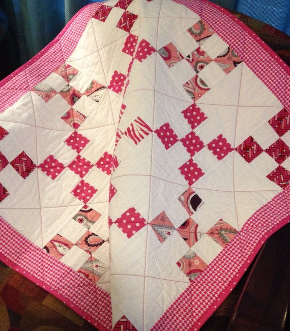 34 5 quot x 34 5 quot nine patch quilt in the line called princess by adorn