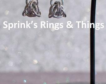 """Chain maille silver """"Trek"""" dangle earrings"""