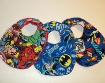 Superhero Baby Bibs, Baby Boy Bibs, Baby Gift, Newborn Bibs, Toddler Bibs, Superhero Bib Set, Geek Baby, Minky Bibs, Superhero Baby Shower