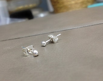 Ball Studs Tiny STERLING SILVER for Piercings