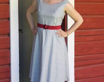 Sarah - offshoulder cotton swing dress SIZE US 10