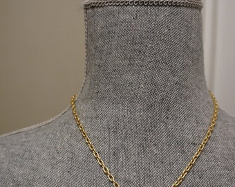 Gold Lightning Bolt Necklace THICK Chain
