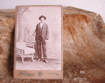 Cabinet Card Photo of Young Cowboy