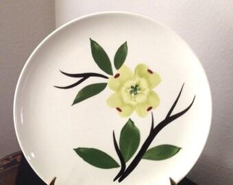 Vintage Handpainted JONI Dixie Dogwood Dinner Plate