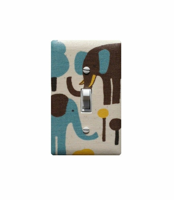 Items Similar To Elephant Light Switch Plate Cover Baby