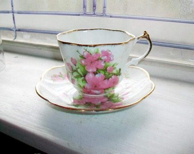 Vintage Tea Cup and Saucer Salisbury Bone China England