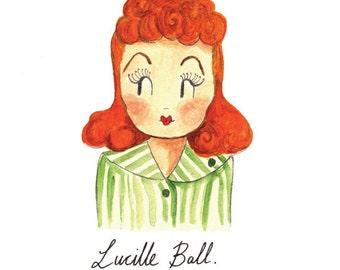 Lucille Ball, A5 Art Print