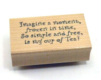 Rubber Stamp Imagine a moment