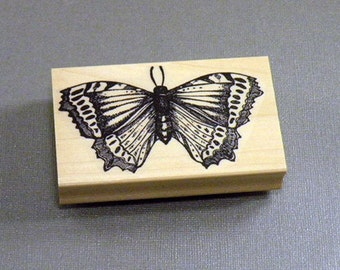 Butterfly Collage Rubber Stamp