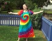 XL 2XL 3XL Tie Dye Dress- Plus Size Tie Dye Dress- Rainbow Tie Dye