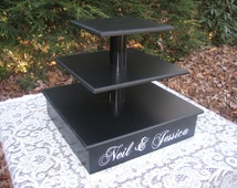 Cupcake Stand 3 Tier Cake Tower Box Base Personalized