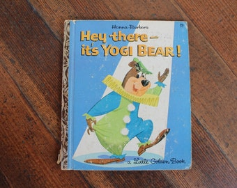 Vintage Children's Book - Hey There It's Yogi Bear (A Little Golden Book 1964)