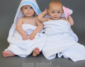 Personalized Hooded Towel - Sample Shown in True White