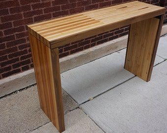 Reclaimed Bowling Alley Console Table