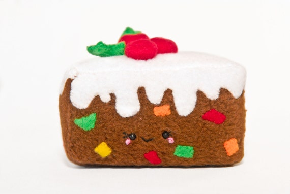 Squishy Cake Slice : Fruit Cake Plush-Kawaii-Squishy-Slice Cake by DesignsbyGitana