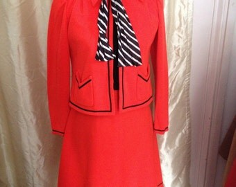 FREE US SHIP 60s Day Dress with Jacket