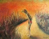 Stay Out of The Weeds - Original Pastel Drawing - 16 x 20