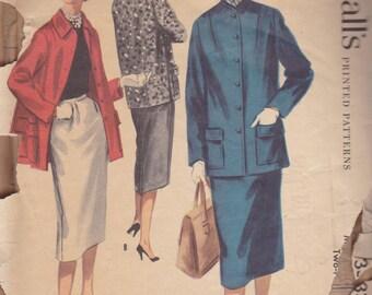 1950s Skirt Suit Pattern McCalls 3333 Size 14