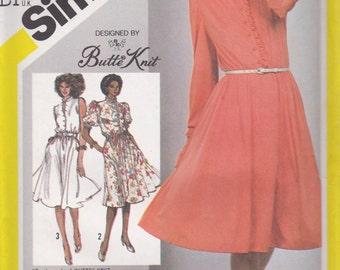 Modest Dress Pattern Simplicity 5487 Size 12 Uncut