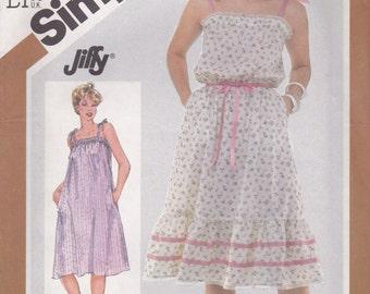Vintage Sundress Pattern Simplicity 5540 Size 10/12 Uncut