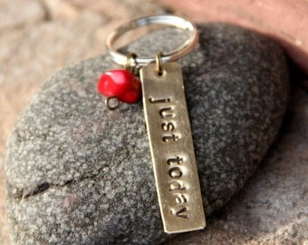 Just Today Metal Stamped KeyChain