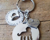 Purse Charm Labradoodle Goldendoodle Personalized.  Doodle kisses. Hopeless doodle lover.  Custom.Your dogs name. Dog Jewelry.