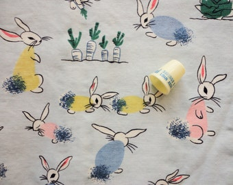 waverly cabbage patch bunny print vintage cotton curtain panels
