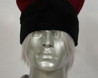 Burgundy Mohawk Hat