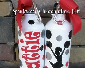 Personalized Cheerleading Water Bottle- Cheerleader Gift - Kid Gift Ideas