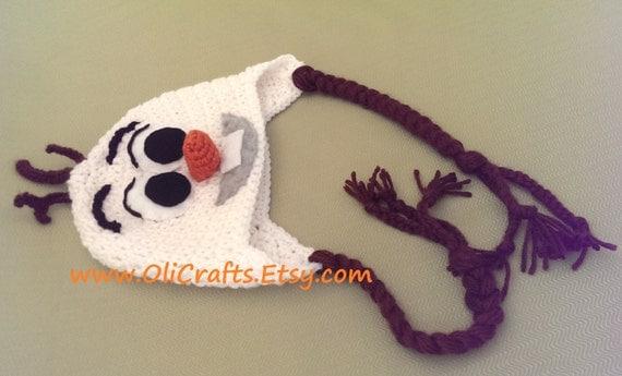 Crochet Pattern For Olaf : Items similar to Olaf Crochet Hat on Etsy
