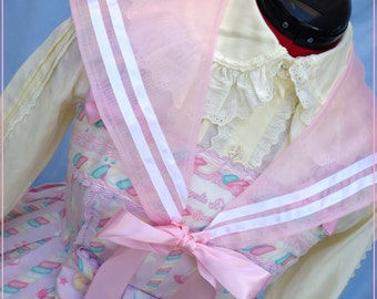 SPRING CLEANING SALE! Pink Bubble Fairy sailor collar