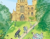 Ely Cathedral print, 'Palace Green'