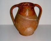 1890s Verwood Pottery England Twin Handled Urn Antique Terracotta Antique Vase Vintage Vase Vintage Home Decor Vintage Housewares