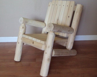 Delightful Attractive Log Adirondack Chair Kids Childrens Outdoor Furniture Cedar Home  Lodge Cabin