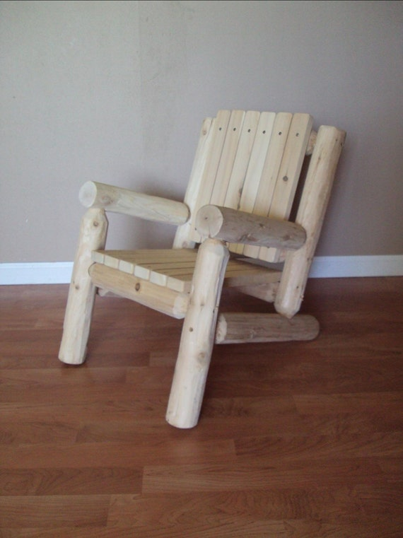 Log Adirondack Chair Kids Childrens Outdoor Furniture