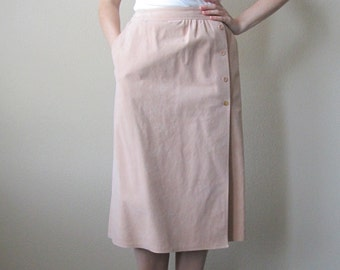 1970s Tan Suede Skirt