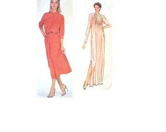 Vogue 2162 Sewing Pattern Paris Original Designer 1970s Chloe Maxi Dress Casual Day Dress Party Gown Pleated Neckline Uncut FF Bust 32