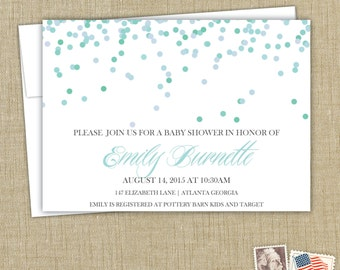 Confetti Baby Shower Invitations