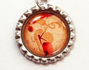 Personalized Bookmark, Monogram Bookmark, bookmark, Orange, Red, custom bookmark, Bleeding Heart (3709)
