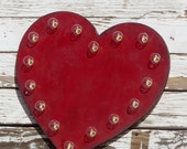 """SALE 24"""" Heart Vintage Marquee Lighted Wood... Valentines, Wedding, Anniversary, Gift"""