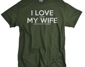 Christmas gift for Husband Gun Shirt for Men Rifle Pistol T shirt I Love My Wife Shooting Range Funny Tshirt Birthday gift from wife