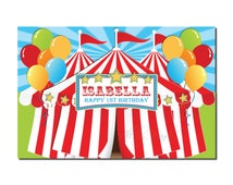 Carnival/Circus Backdrop Banner Printable-Birthday Table Backdrop Banner-Photo Decoration-DIGITAL DOWNLOAD