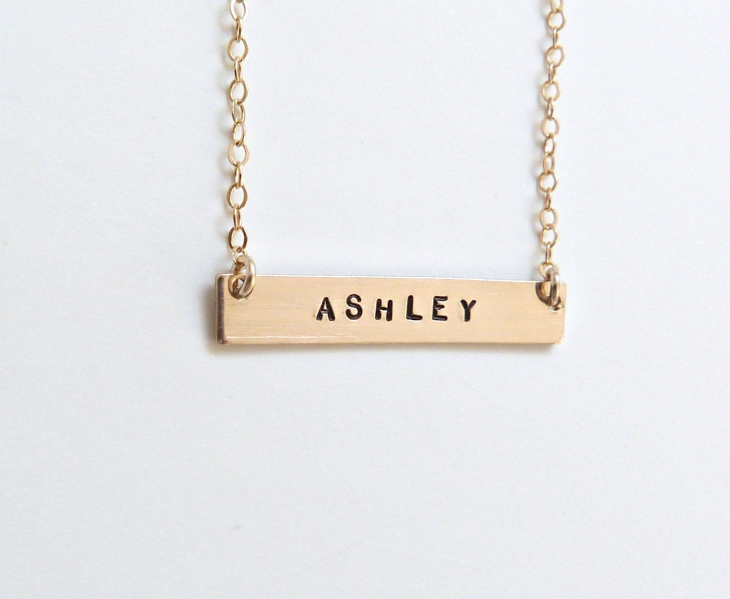 personalized bar necklace monogram necklace by