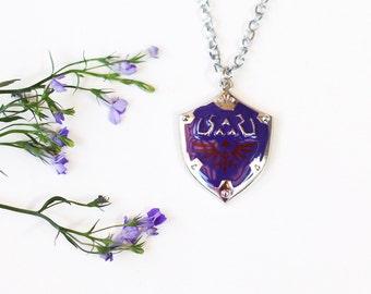 The Legent of Zelda inspired Link's HYLIAN shield necklace pendant