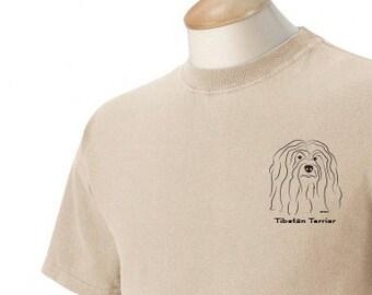 Tibetan Terrier Garment Dyed Cotton T-shirt
