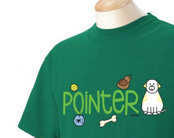 Pointer Doodle Garment Dyed Cotton T-shirt
